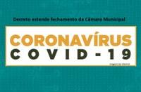 Câmara de Quirinópolis prorroga prazo de fechamento de sua sede e regime de teletrabalho até o próximo dia 19 de Abril.