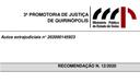 MP faz recomendação e pede Plano Municipal de fiscalização de Decreto.